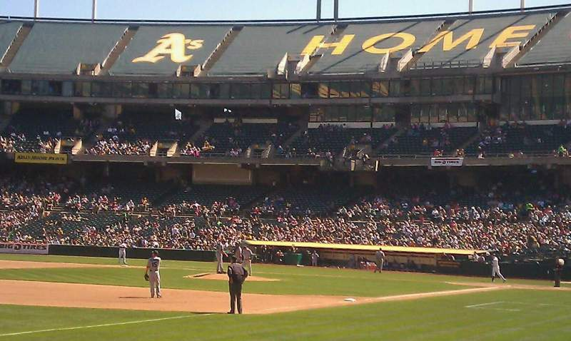 Seating view for Oakland Coliseum Section 128 Row 8 Seat 4