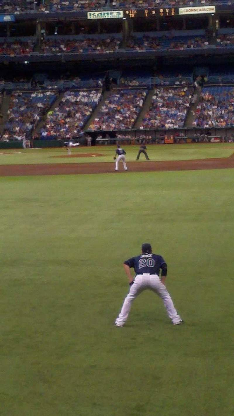 Seating view for Tropicana Field Section 133 Row t Seat 24