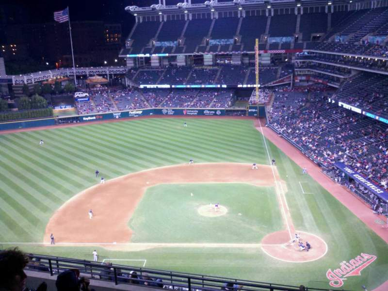 Seating view for Progressive Field Section 559 Row M Seat 4