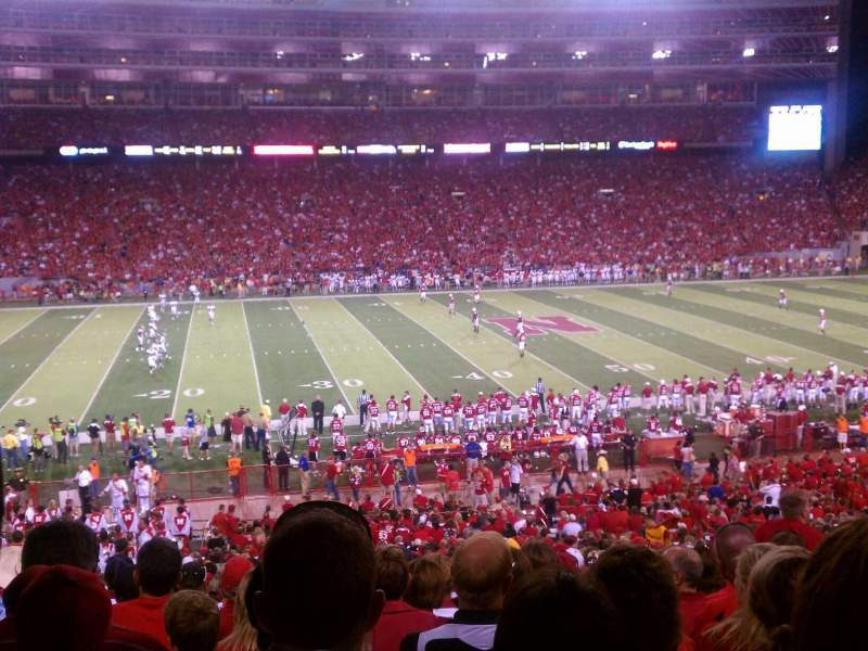 Seating view for Memorial Stadium (Lincoln) Section 8 Row 33 Seat 12