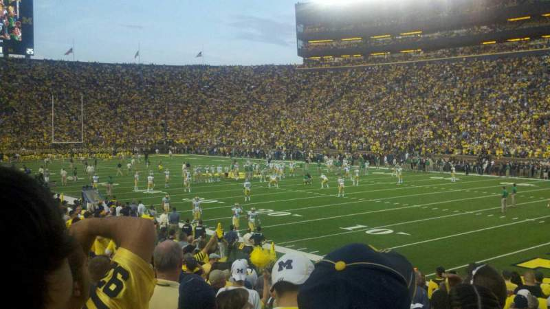 Seating view for Michigan Stadium Section 17 Row 21 Seat 3