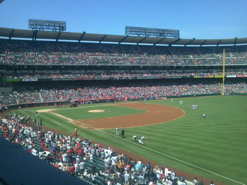Seating view for Angel Stadium Section C344 Row A Seat 1