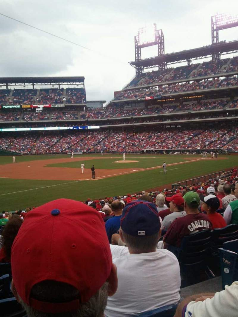 Seating view for Citizens Bank Park Section 136 Row 28 Seat 3