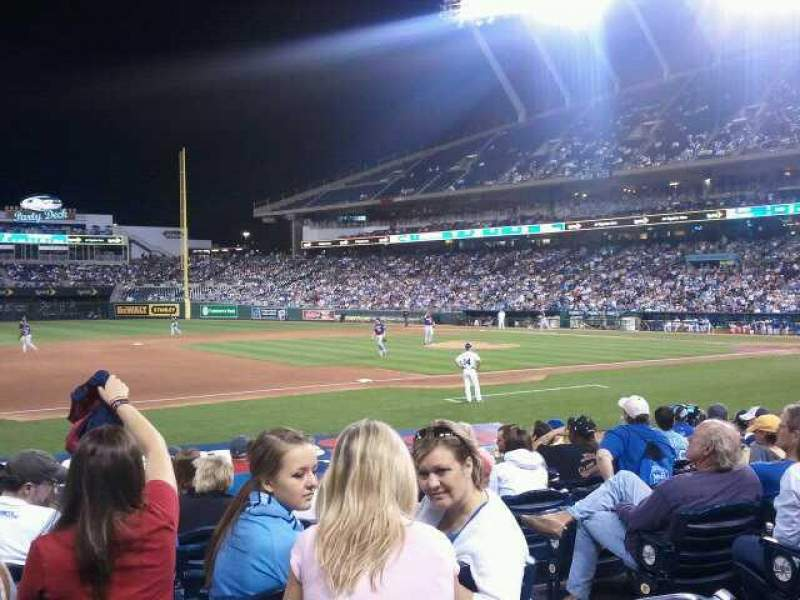 Seating view for Kauffman Stadium Section 117 Row J Seat 10