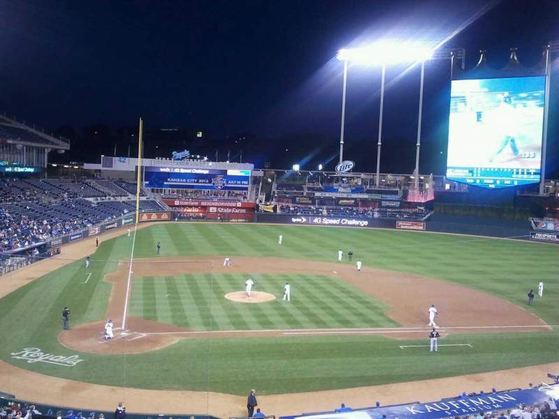 Seating view for Kauffman Stadium Section 312 Row A Seat 15