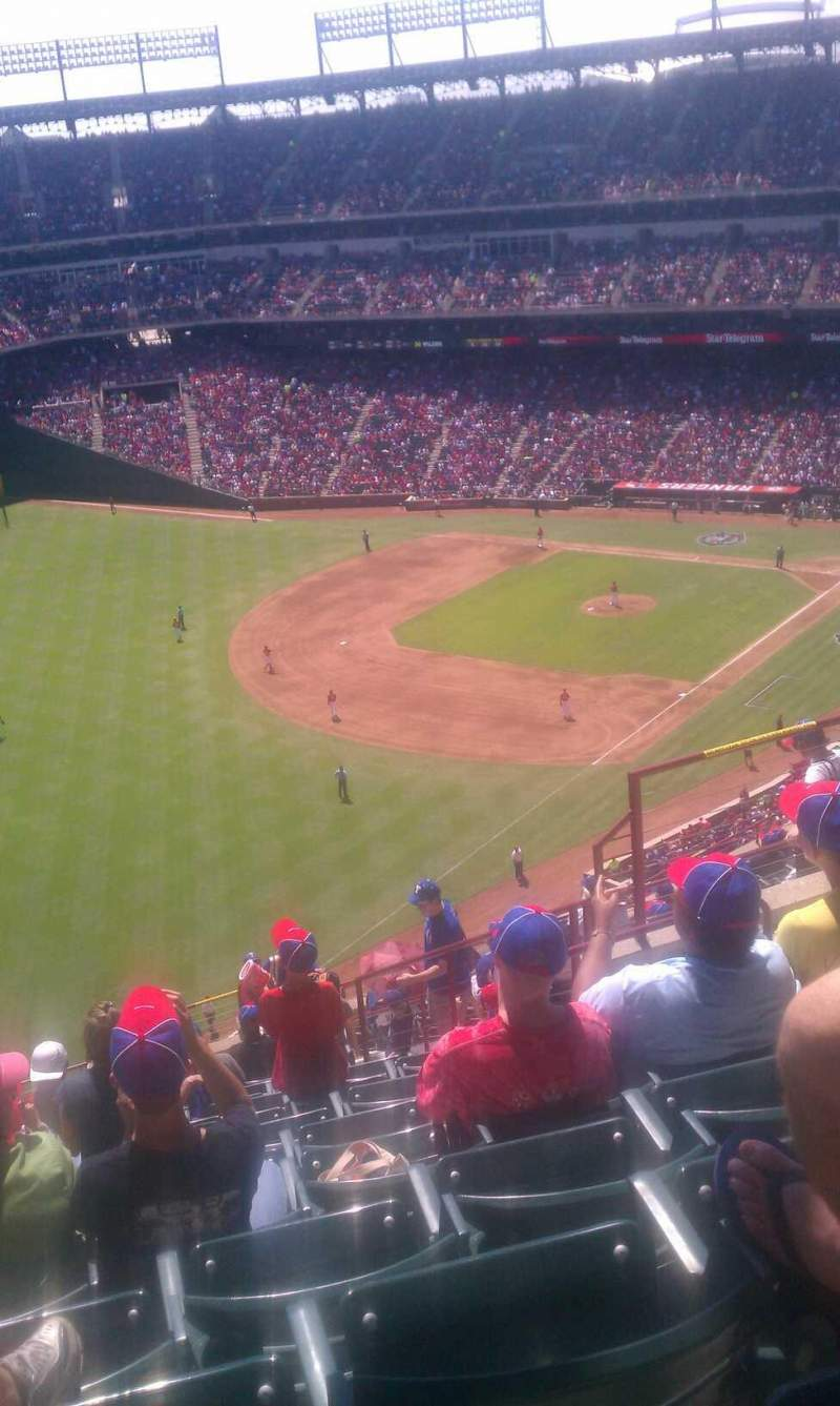 Seating view for Globe Life Park in Arlington Section 311 Row 19 Seat 12
