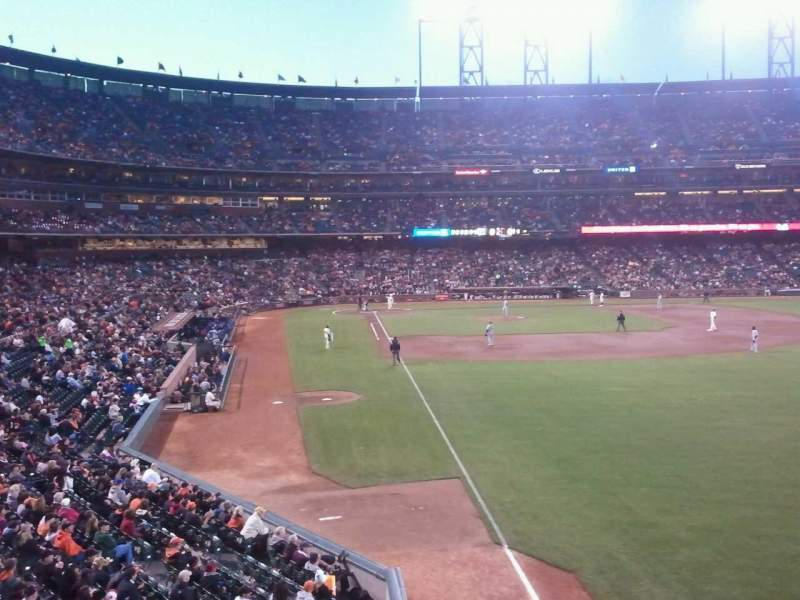 Seating view for Oracle Park Section 150 Row 1 Seat 1