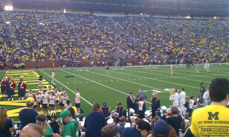 Seating view for Michigan Stadium Section 6 Row 8 Seat 21 and 22