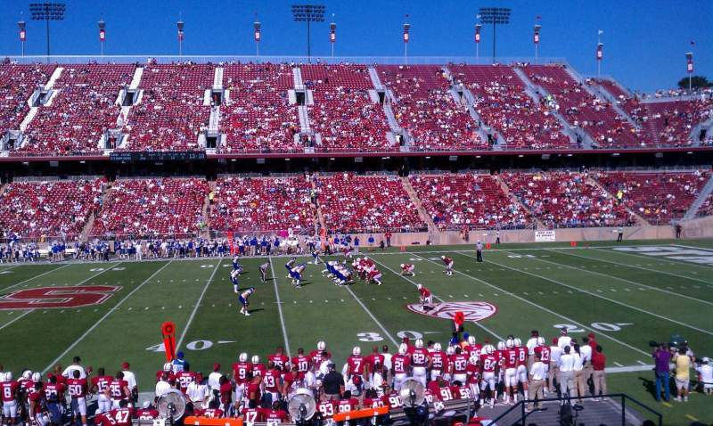 Seating view for Stanford Stadium Section 112 Row S Seat 12