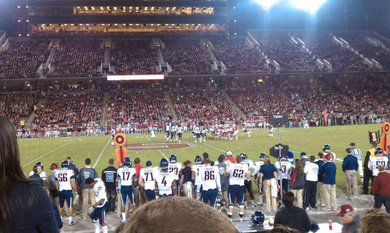 Seating view for Stanford Stadium Section 133 Row E Seat 14