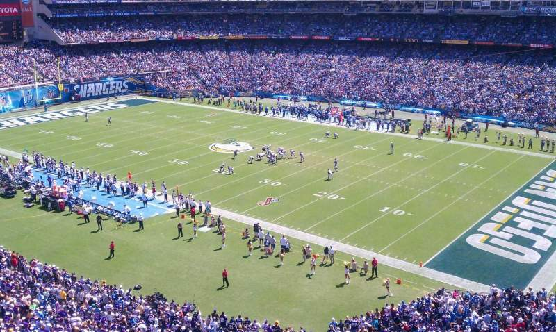 Seating view for Qualcomm Stadium Section LV Row 1 Seat 1