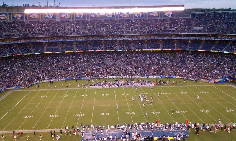 Seating view for Qualcomm Stadium Section View Row 13 Seat 9