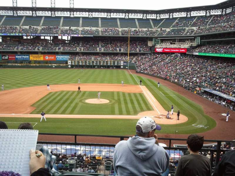 Seating view for Coors Field Section 242 Row 4 Seat 11