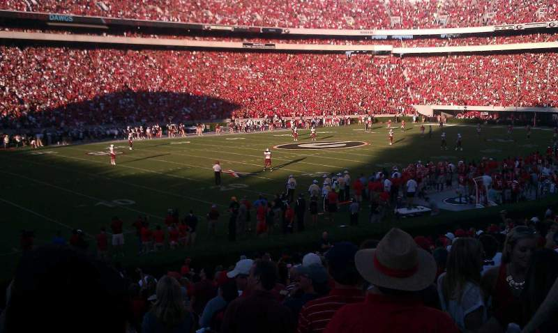 Seating view for Sanford Stadium Section 136 Row 23 Seat 1
