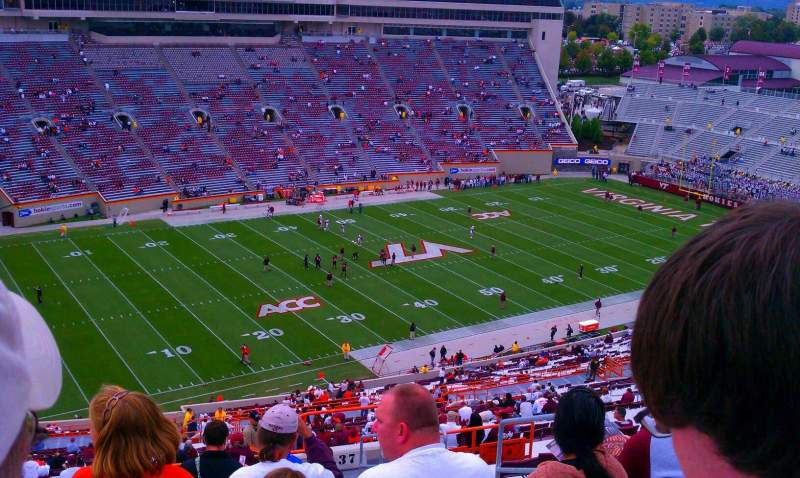 Seating view for Lane Stadium Section 37 Row 4z Seat 11