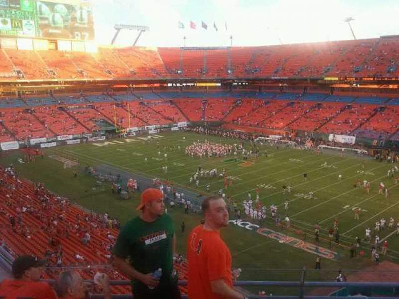 Seating view for Hard Rock Stadium Section Old 405 Row 05 Seat 05