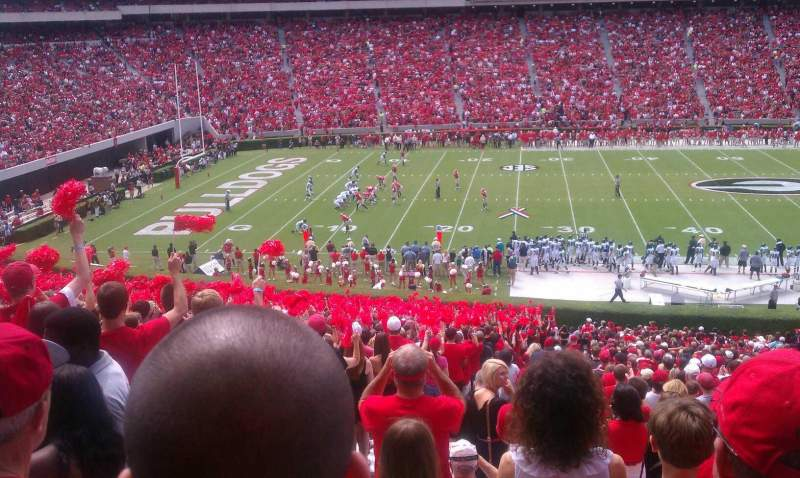 Seating view for Sanford Stadium Section 108 Row 55 Seat 26