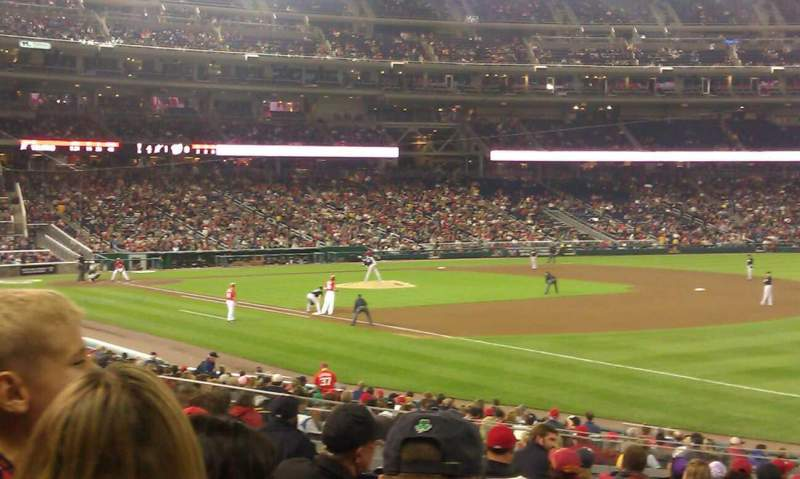 Seating view for Nationals Park Section 134 Row EE Seat 3