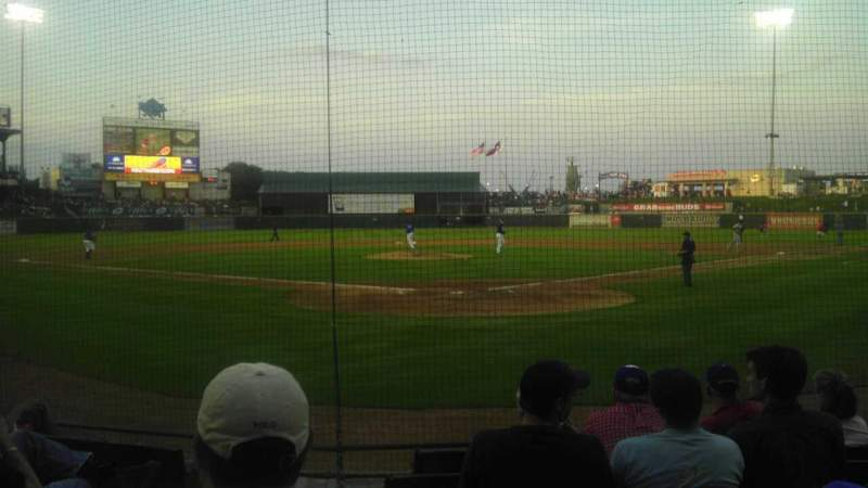 Seating view for Dell Diamond Section 118 Row 5 Seat 1 and 2