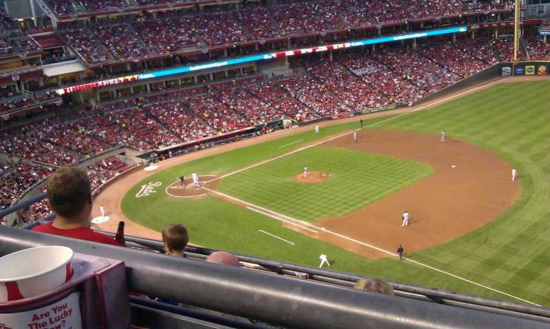 Seating view for Great American Ball Park Section 534 Row A Seat 12