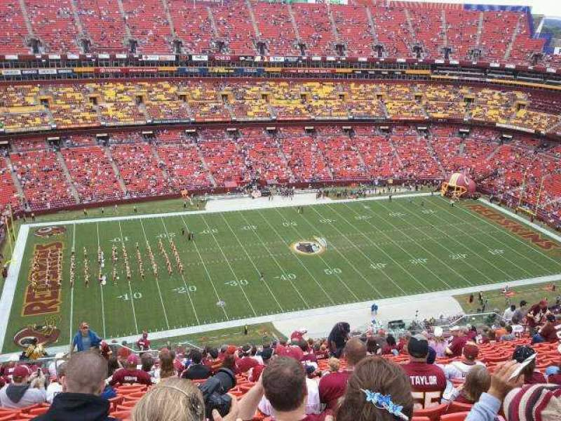 Seating view for FedEx Field Section 430