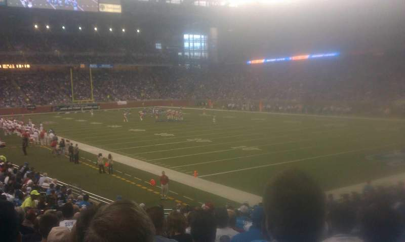 Seating view for Ford Field Section 134 Row 20 Seat 4