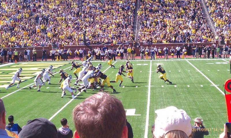 Seating view for Michigan Stadium Section 4 Row 9 Seat 16