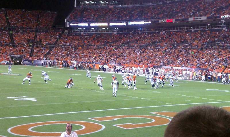 Seating view for Sports Authority Field at Mile High Section 116 Row 9 Seat 15