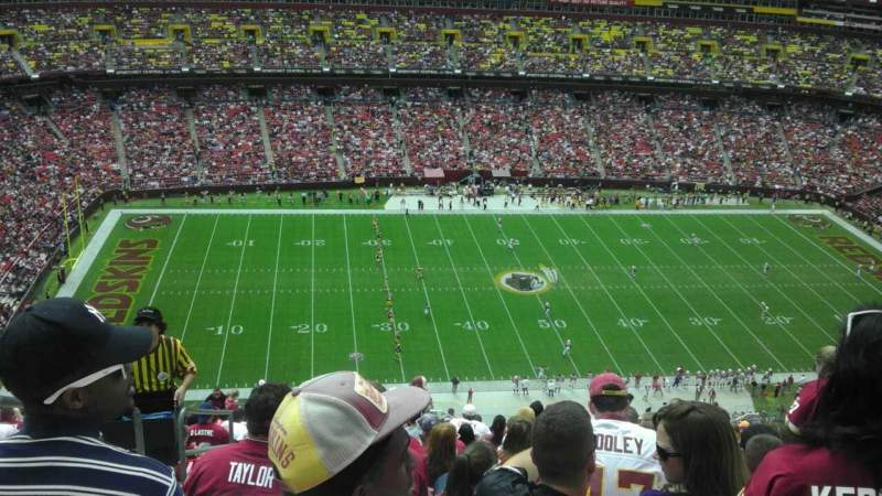 Seating view for FedEx Field Section 430 Row 26 Seat 25