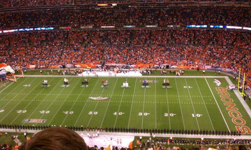 Seating view for Sports Authority Field at Mile High Section 532 Row 30 Seat 7