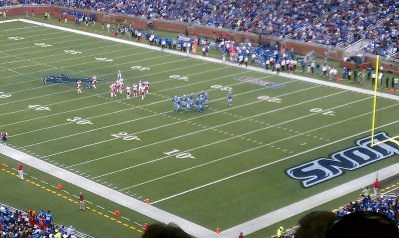 Seating view for Ford Field Section 339 Row 20 Seat 8