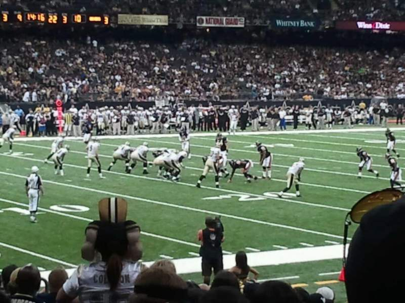 Seating view for Mercedes-Benz Superdome Section 121