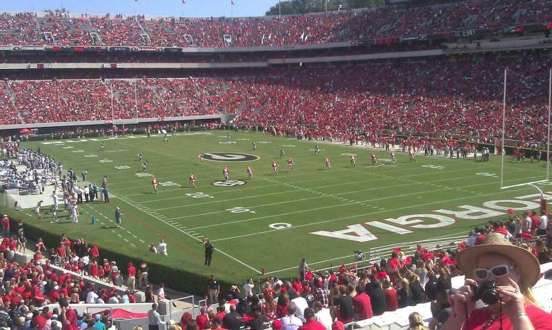 Seating view for Sanford Stadium Section 144 Row 42 Seat 19