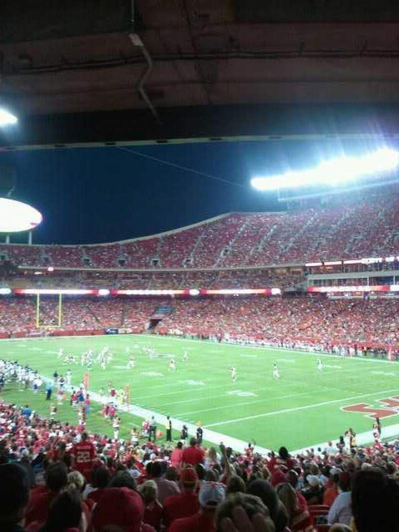 Seating view for Arrowhead Stadium Section 131