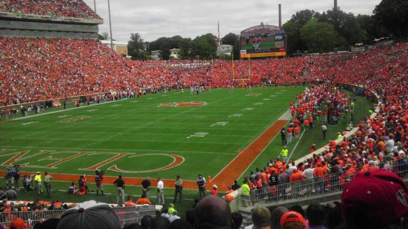 Seating view for Memorial Stadium, Clemson Section J