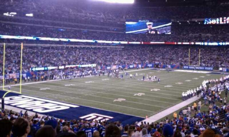 Seating view for MetLife Stadium Section 146 Row 35 Seat 28