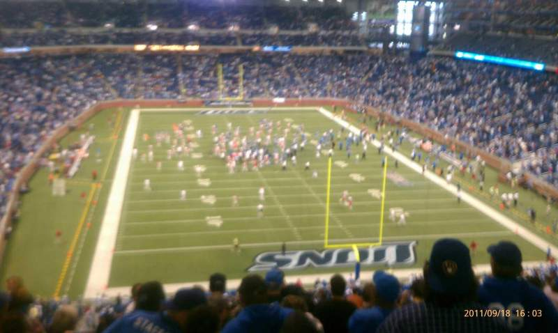 Seating view for Ford Field Section 343 Row 12 Seat 8