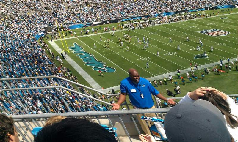 Seating view for Bank of America Stadium Section 547 Row 2 Seat 17