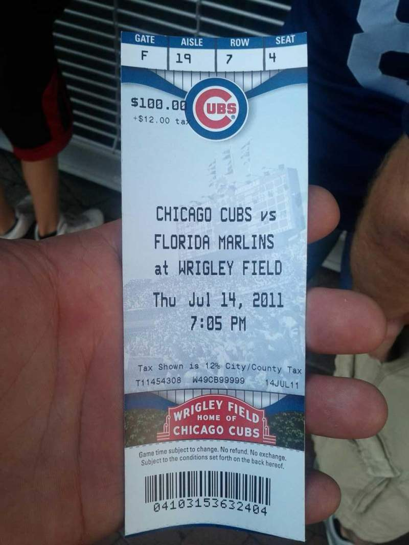 Seating view for Wrigley Field Section 19 Row 7 Seat 4
