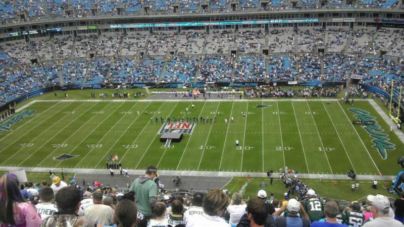 Seating view for Bank of America Stadium Section 513 Row 25 Seat 10