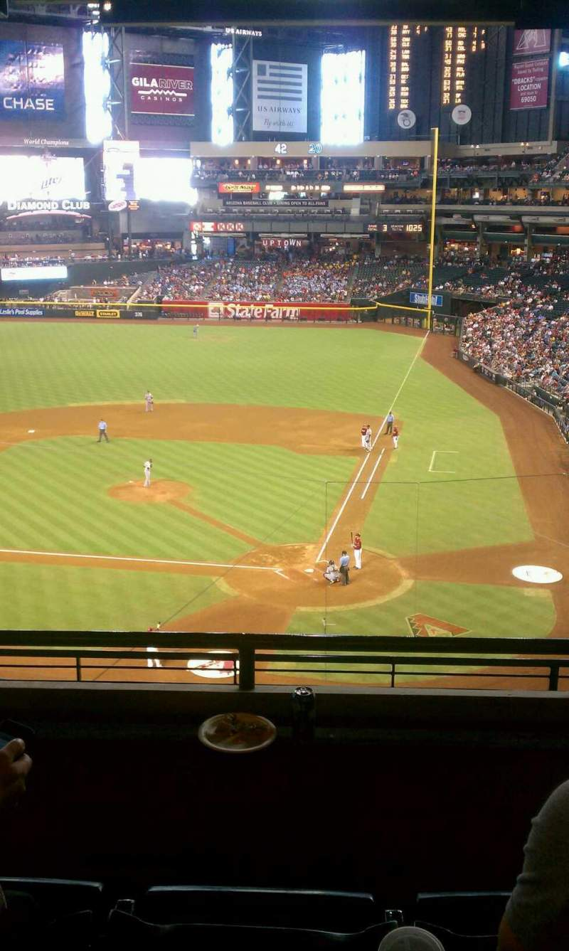Seating view for Chase Field Section Suite 41 Row 2 Seat 6