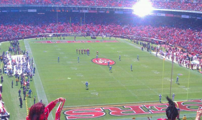 Seating view for Candlestick Park Section ur58 Row 7 Seat 6