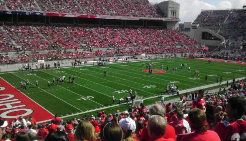 Seating view for Ohio Stadium Section 13A Row 28 Seat 7