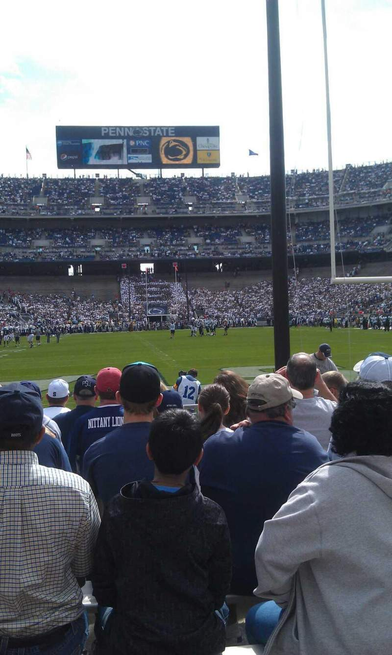 Seating view for Beaver Stadium Section ng Row k Seat 23