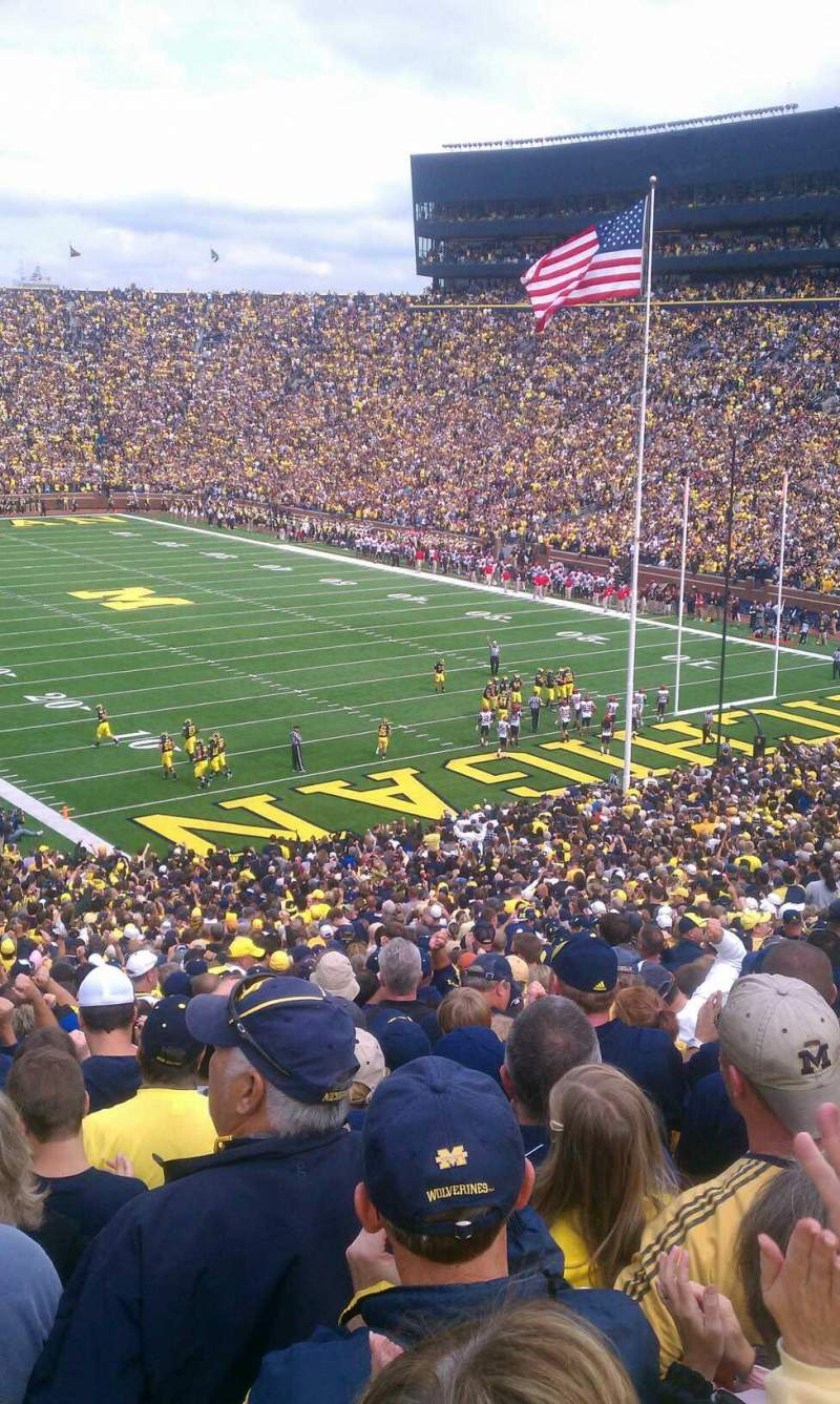 Seating view for Michigan Stadium Section 15 Row 66 Seat 7
