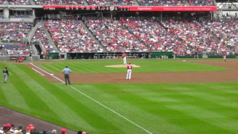 Seating view for Nationals Park Section 137 Row cc Seat 22