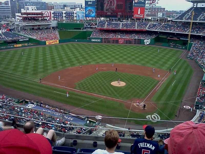 Seating view for Nationals Park Section 311 Row 8 Seat 7