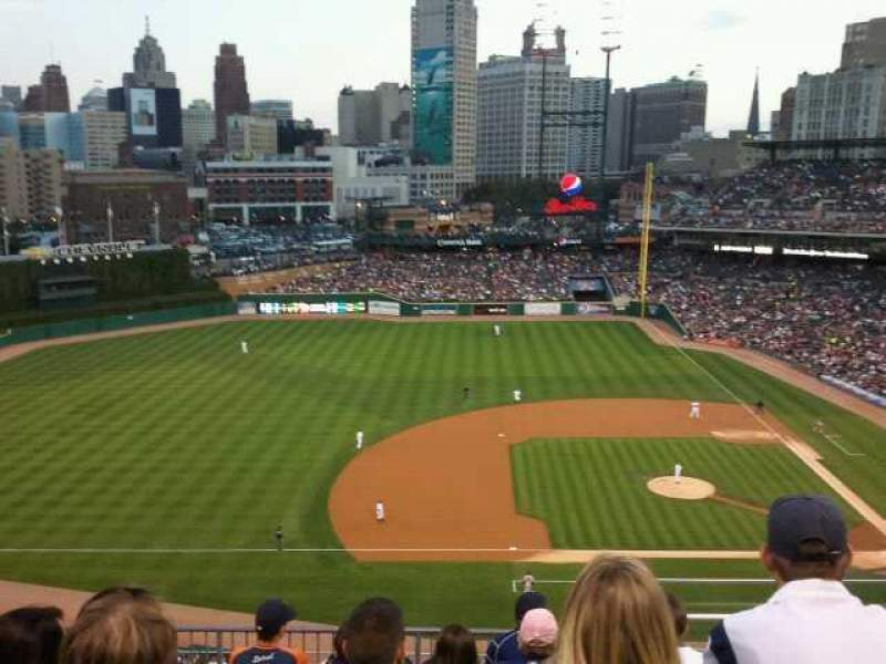 Seating view for Comerica Park Section 334 Row 7 Seat 7