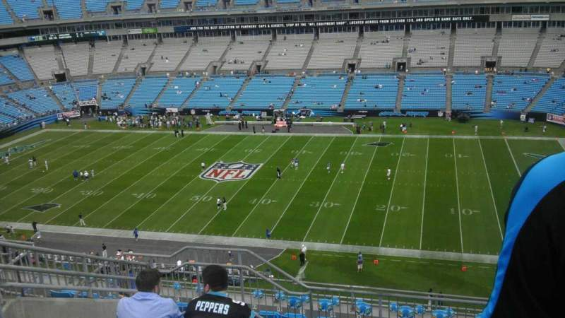 Seating view for Bank of America Stadium Section 539 Row 7 Seat 14