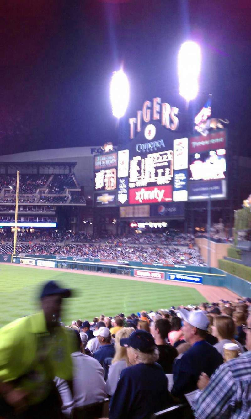 Seating view for Comerica Park Section 103 Row bb Seat 3